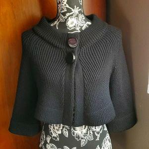 Vintage Bebe Black Shrug Wool Sweater S